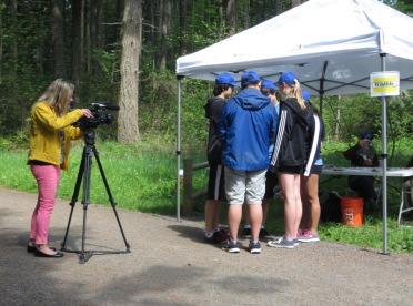 KING-5 Reporter Alison Morrow at Wildlife Station - 2015 Envirothon