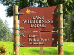 Lake Wilderness Lodge Sign - 2015